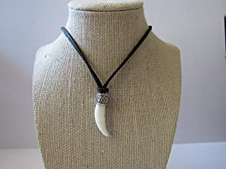 Coyote Tooth Pendant Necklace Animal Bone Spirit Animal Jewelry N917