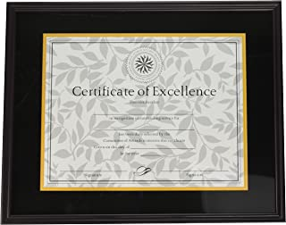 DAX Hardwood Document/Certificate Frame with Mat, 11 x 14 Inches, Mahogany (1511TM)