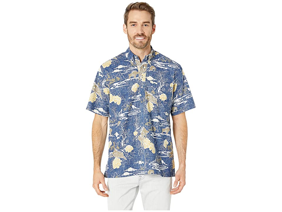 Reyn Spooner Year Of The Boar Classic Fit Pullover Hawaiian Shirt (Medieval Blue) Men