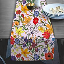 RADANYA Floral Print Table Runner for Wedding Shower Home Dining Table Décor 14x72 Inches