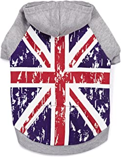 Zack & Zoey Distressed British Flag Hoodie for Dogs