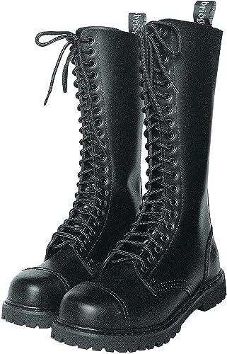 Knightsbridge 20 Trous Gothique Bottes avec embout embout embout en acier BOTTES DE COMBAT Chaussures noir différentes tailles 931