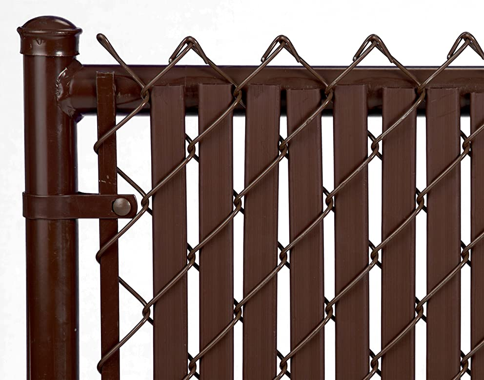 5ft Brown Tube Slats for Chain Link Fence