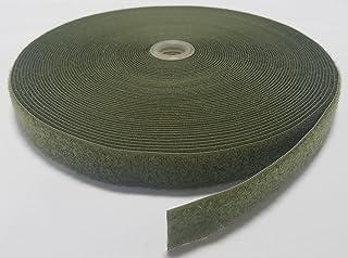 "1"" OLIVE (OD) GREEN SEW-ON HOOK and LOOP FASTENER - LOOP SIDE ONLY - 25 YARDS"