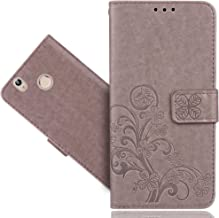 Oukitel U7 Plus Case, FoneExpert Premium Leather Flower Kickstand Flip Wallet Bag Case Cover For Oukitel U7 Plus
