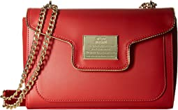 LOVE Moschino Plaque Flap Shoulder Bag