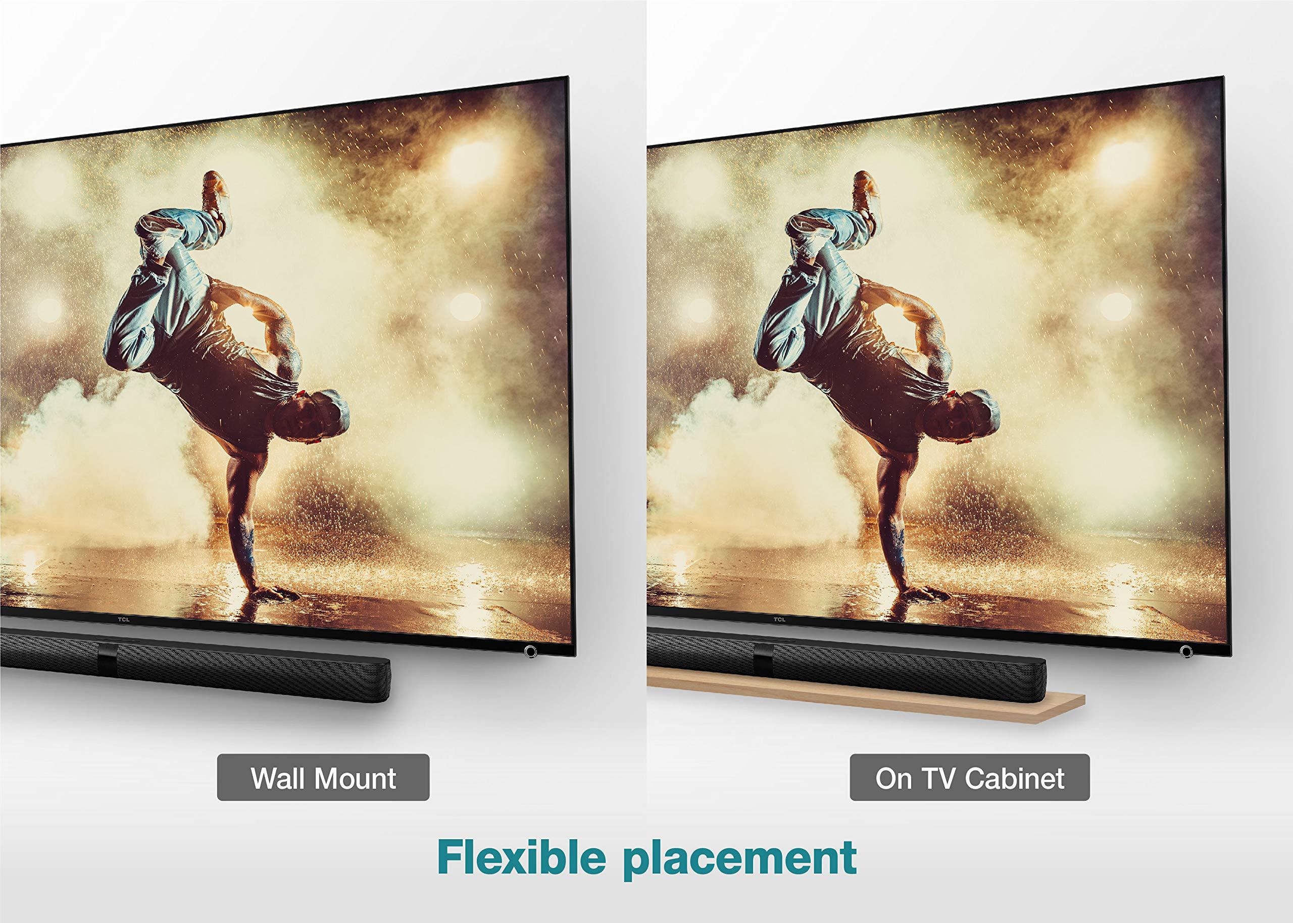Barra de sonido TCL TS7010 (92 cm) para TV con subwoofer (Bluetooth, canal de sonido 2.1, 160 vatios, HDMI ARC, dolby digital, entrada AUX de 3,5 mm, mando a distancia), color negro: Amazon.es: Electrónica
