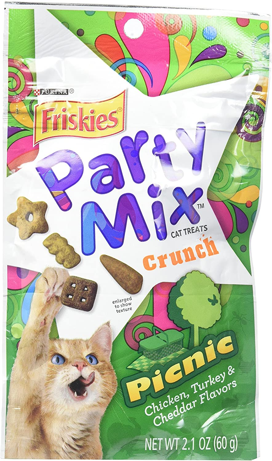 AMERICAN DISTRIBUTION & MFG CO Cat Treats, Mixed Grill Party Mix, 2.1oz. Pouch