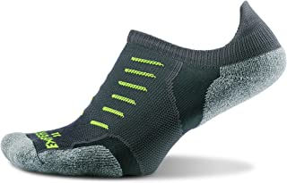 Thorlo mens Experia® Thin Padded Running No Show Tab Sock Running Socks - yellow - X-Small