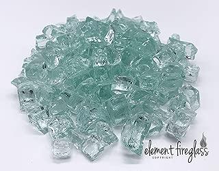 Large Aquamarine Fire Glass 1/2