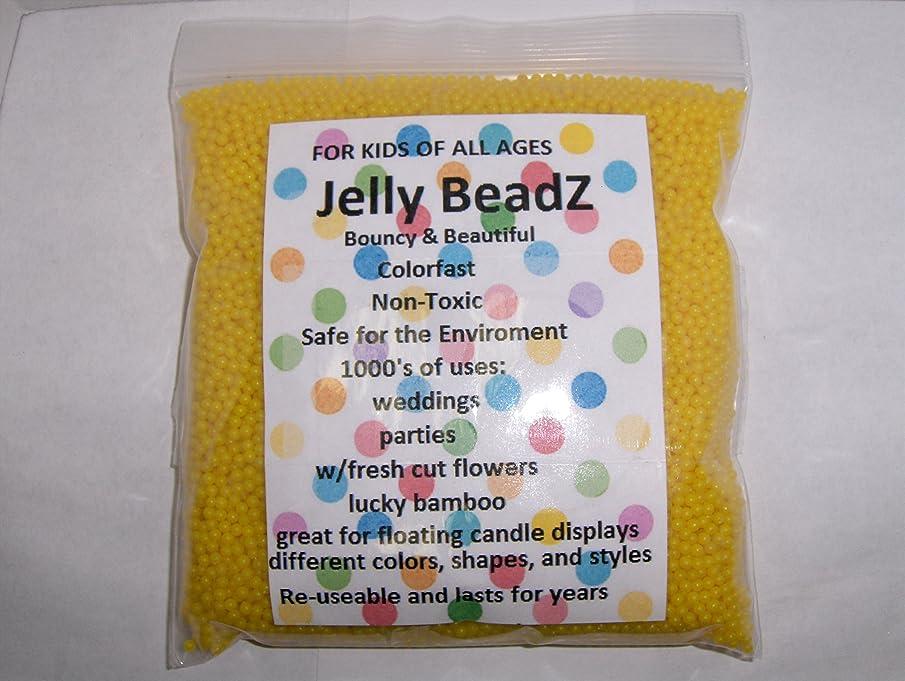 JellyBeadZ Brand - Huge 1 Pound Water Bead Gel - 16 Ounce. Heat Sealed Bag - Lemon Yellow