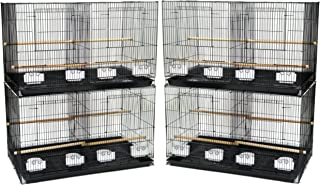 YML Medium Breeding Cages with Divider, Lot of 4, Antique Silver