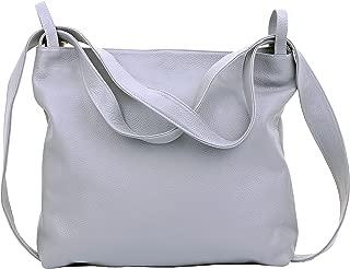 Primo Sacchi Ladies Italian Textured Leather Grab Shoulder Bag Handbag Backpack