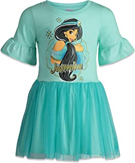 Toddler Girls' Short Sleeve Dress with Tulle Skirt