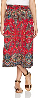 Angie Women's Printed Skirt with Tie Waist