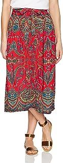 Angie Women's Printed Skirt with Tie Waist
