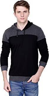 Fabstone Collection Blue Full Sleeve Cotton Casual Hooded Tshirt for Men