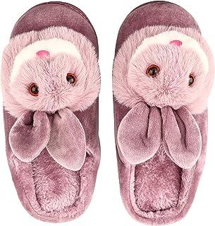 Dekkin Women's Winter Home Indoor Rabbit / Bunny Design Fur Slipper