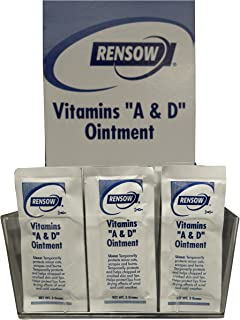 Rensow NADF Super Vitamins A and D Ointment, 144 Foil Packets
