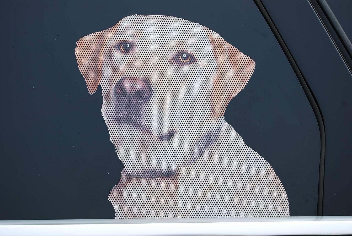 Doggie in the Window car and truck window dog decal - Yellow Labrador Retriever