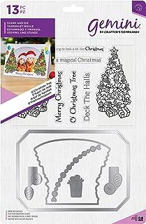 Crafter's Companion Lot de tampons et matrices de découpe pour création de cartes et scrapbooking Motif arbre de Noël Mult...