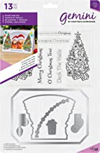 Crafters Companion GEM-STD-OTREE Gemini - Stamp & Die Set for Cardmaking and Scrapbooking - O'Christmas Tree, 7 x 5 inches, Multi-Colour