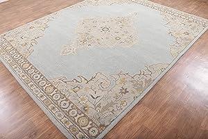 Rug & Home Alexander Blue Traditional Persian Oriental Woolen Area Rugs (5'x8')