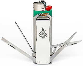stainless steel bic lighter case