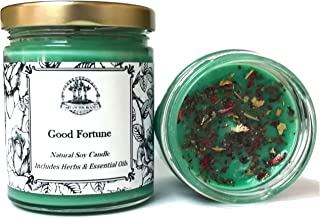 Art of the Root Good Fortune Soy Spell Candle 8 oz for Prosperity, Blessings, Healing & Abundance (Wiccan, Pagan, Hoodoo, Magick)