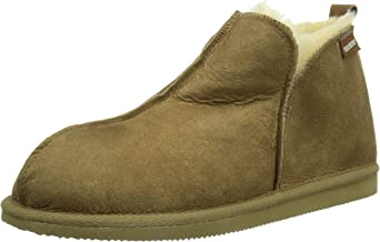 Shepherd of Sweden Mens' Anton Antique Cognac Suede Slipper Boot