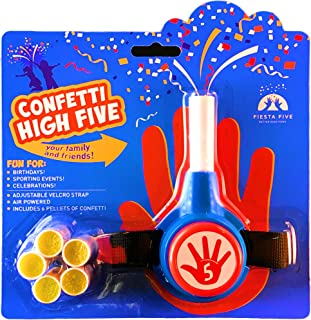 FiestaFive - Confetti High Five HandHeld Toy Shooter with 6 Refills FiestaFive