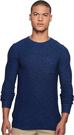 Scotch & Soda Long Sleeve Tee in Special Waffle Quality
