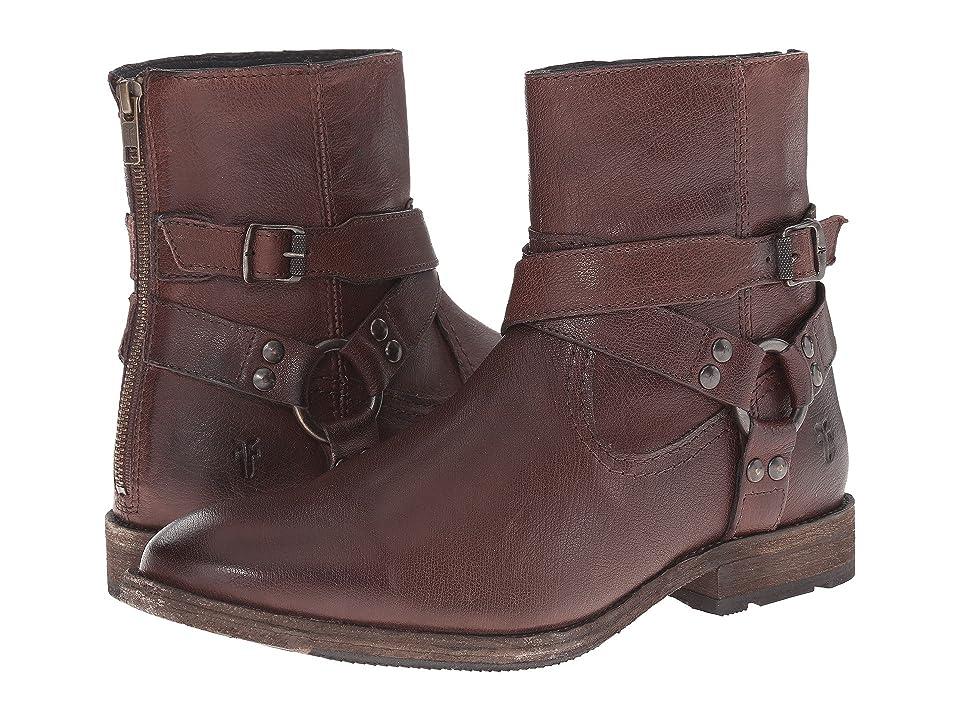 Frye Ethan Harness (Dark Brown Buffalo Leather) Cowboy Boots