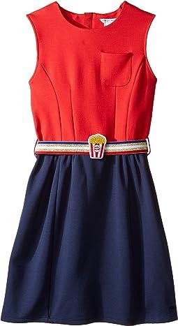 Little Marc Jacobs - Milano Pop Corn Belt Dress (Big Kids)