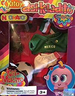 Neonate Nerlie Clothing Mexico Soccer Jersey with Soccer Ball & Shoes - Mexico Ksi-Merito Exclusive
