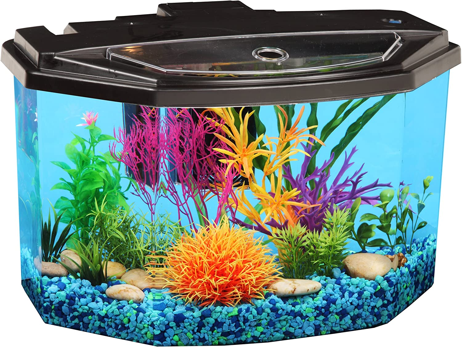 AquaView 3Gallon Fish Tank with LED Lighting and Power Filter