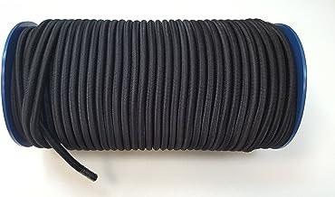 8mm Zwarte Elastische Bungee Rope Shock Cord Tie Down Boten Aanhangwagens 100m