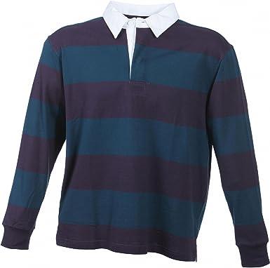 Camiseta polo de manga larga de B4088, de tela gruesa, en estilo de rugby