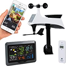 La Crosse Technology V40-PRO-INT Color Wireless Wi-Fi Professional Weather Station, Gray