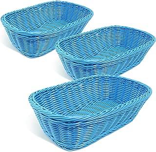 Colorbasket Hand Woven Waterproof Rectangular Basket, Dark Blue