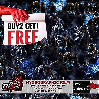 Hydrographic Film Skulls Lm Creepy Blue Eye Boogey Man Skulls Zombies Semi-Transparent Boogie Man BoogeymanHydrographic Water Transfer Film Hydro Dipping Dip