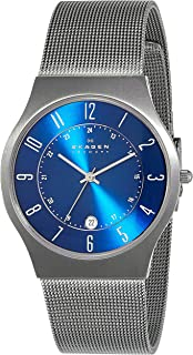 (Renewed) Skagen Grenen Analog Blue Dial Mens Watch - 233XLTTN#CR