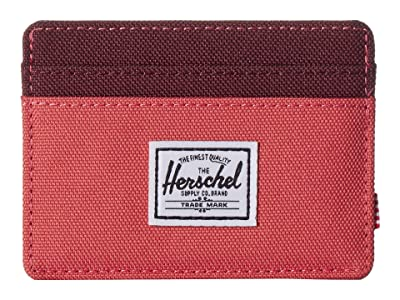 Herschel Supply Co. Charlie RFID (Mineral Red/Plum) Wallet Handbags