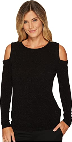 Calvin Klein - Long Sleeve Lurex Cold Shoulder Top