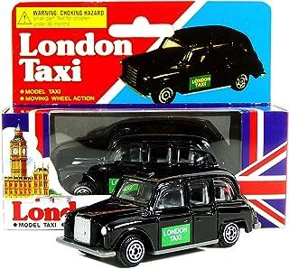 Juguete Taxi Negro de Londres - Modelo Coche de Metal Fundido a Presión / Ruedas Móviles / Black Cab / Recuerdo Británico de Inglaterra Reino Unido