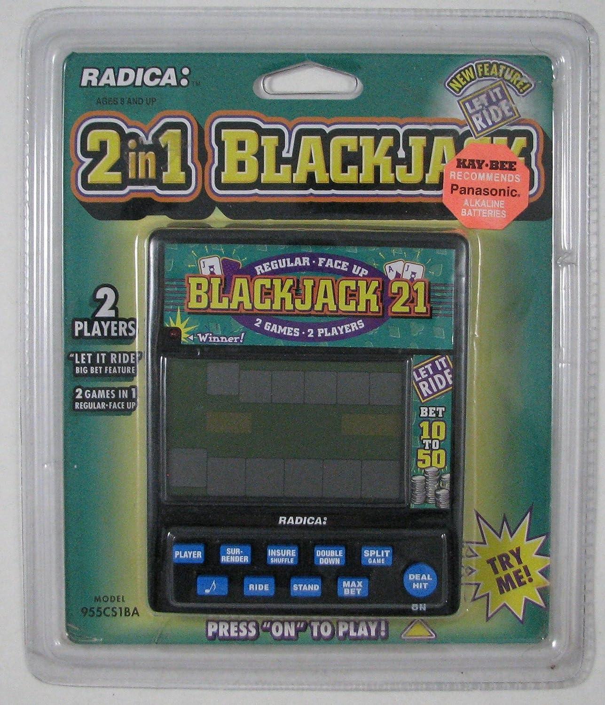 Radica Handheld 2 in 1 trust Blackjack Model Philadelphia Mall 955CS1BA