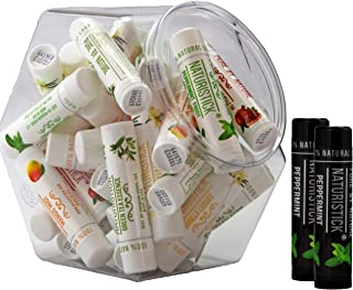 32-Pack Lip Balm in Bulk by Naturistick. Assorted Flavors. 100% Natural Ingredients...