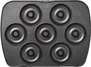 LAGRANGE speelplaat mini-donuts/mini bagels voor wafelijzer premium zwart