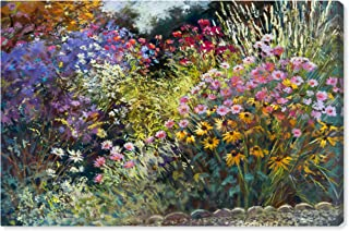 Modern Impressionistic Floral Print Wall Art on Canvas, 36
