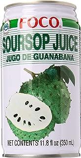 Foco Soursop Juice Drink (Jugo De Guanabana/Graviola) - 11.8 Oz (350 Ml) - Pack of 24